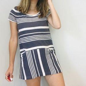 Anthro Sat Sun striped mini dress